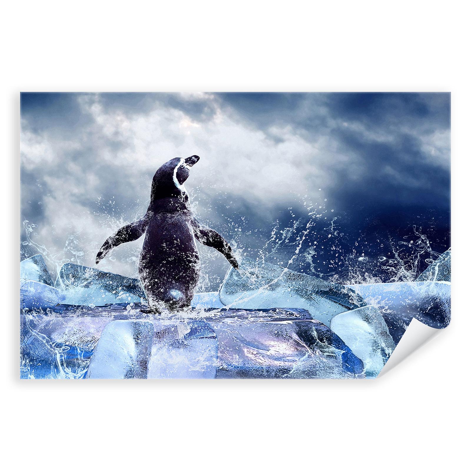 Postereck 0184 Poster Leinwand Kajak Wasserfall Sport Sprung Wasser Fluss Boot